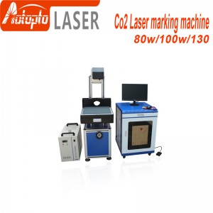 Co2 laser marking machine engraving wood material and nonmetal